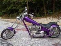 Crazy Plum Metallic Purple Custom Ironhorse Chopper
