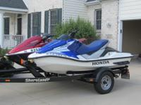 We are offering our personal jet skis and trailer. We