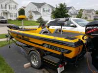 This 17' Aries Bass Boat is special due to its low