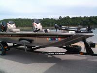 2005 Bass Tracker Panfish 16. This boat has a 25 Hp