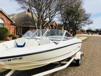 2005 Bayliner 175. Only has 125 hours. In board/out