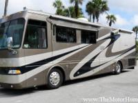 38 Huntington II model with 2 slide-outs. Exceptionally