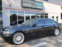 Must see! Rare 2005 BMW 760Li in black on black with