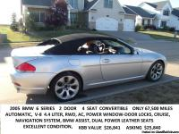 2005  BMW  SERIES 6  CONVERTIBLE 67,500