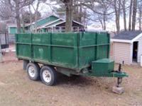 2005 Brimar dump trailer for sale. 6' x 10' Has a new