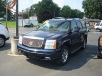 Options Included: N/AClean and loaded Escalade, TV/DVD,