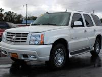 Check out This 2005 Cadillac Escalade in White Diamond