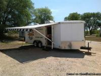 MUST SEE!!This is a 24 ft cargo mate trailer converted