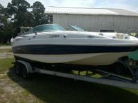 Spick-and-span 2005 Chaparral 24 foot deck boat with