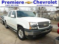 Options:  2005 Chevrolet Avalanche White/ V8 5.3L