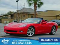 Clean CARFAX. Red 2005 Chevrolet Corvette RWD 6.0L V8