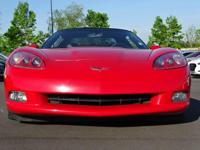 Clean CARFAX. Victory Red 2005 Chevrolet Corvette Z51