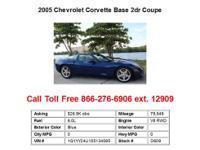 2005 Chevrolet Corvette Base 2dr Coupe Coupe 2 Doors