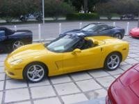 2005 Corvette Convertible, Velocity Yellow with Black