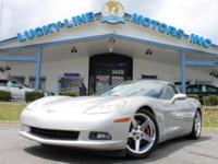 2005 CHEVROLET CORVETTE SILVER WITH RED LEATHER