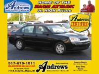 2005 Andrews Certified Used Chevrolet Mailibu LS, with