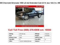 2005 Chevrolet Silverado1500 LS 4x2 Extended Cab 6.5