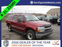 Options:  2005 Chevrolet Suburban 2500 Ls|Red|2005