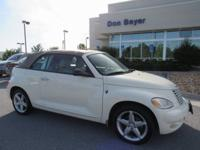 New Price! Clean CARFAX. White 2005 Chrysler PT Cruiser