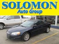 THIS 2005 SEBRING FEATURES A 2.7L V6, LEATHER SEATS,