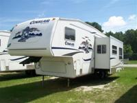 Must sell my 2005 Cougar fifth wheel with bunk room.