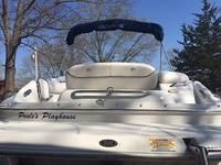 This boat has a new 350 engine with less than 1 hour on