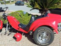 Motorcycle Trike, VW, Volkswagen 1600 Engine, Low Miles