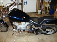 Completely custom softtail w/ 1340 cc EVO Engine,
