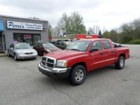 THIS 2005 DODGE DAKOTA IS EXTRA CLEAN. FOUR NEW HXS