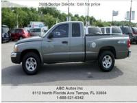 2005 Dodge Dakota SLT 4dr Club Cab 4WD SB, 107,983