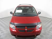 CARFAX One-Owner. Red 2005 Dodge Grand Caravan SXT FWD