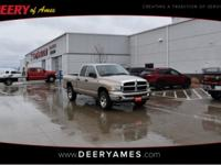 New Price! Gold 2005 Dodge Ram 1500 SLT 4WD 5-Speed