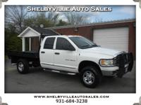 Options:  2005 Dodge Ram 3500 Fresh Motor In This One!