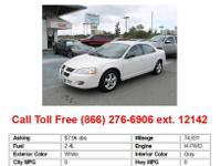 2005 Dodge Stratus SXT 4dr Sedan Sedan White FWD I4