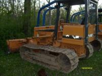 "2005 Case 550H wide track dozer 100"" six way blade,"