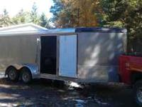 2005 Elk River enclosed trailer. 17 ft. to the v. elec