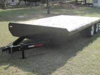 2005 Deck Over Equipment Trailer -- Manufactured by
