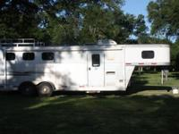 3 Horse Aluminum Fully Contained Trailer Living