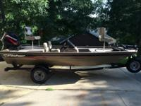For sale is a 2005 Fisher 1600 bass boat that is in