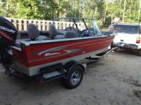2005 Triton 17', Walk Thru Windshield, Trolling Motor,