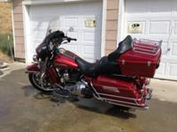 Just a little over 42,000 miles 88CI twin cam bagger,