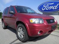 Options Included: N/A2005 Ford Escape Limited 4WD with