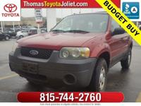 2005 Ford Escape XLS in Redfire Clearcoat Metallic