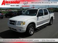White 2005 Ford Explorer Sport Trac XLT 4WD 5-Speed