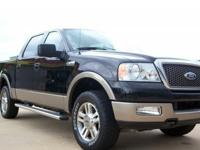 2005 Ford F-150 4x4 CREW LARIAT, HEATED LEATHER, TRUCK