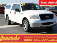 Clean CARFAX. This 2005 Ford F-150 in Oxford White