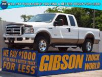 WWW.GIBSONTRUCKWORLD.COM 2005 Ford F250 Lariat Quad Cab