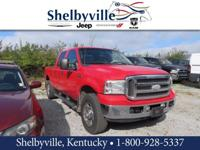 Red 2005 Ford F-250SD Lariat 4WD Power Stroke 6.0L V8