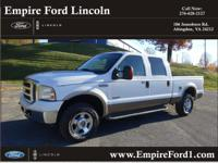 Options:  2005 Ford F-250 Super Duty Lariat|4Dr Crew
