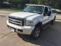 Clean CARFAX. Oxford White Clearcoat 2005 Ford F-350SD